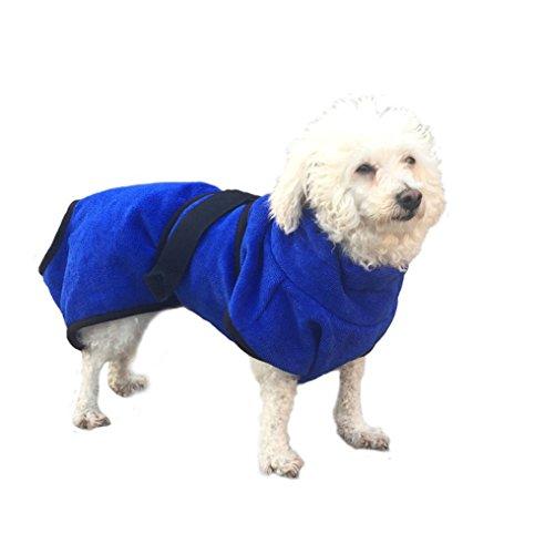 BBEART Pet Clothes, Fashion Dog Quick Drying Bathrobe Powerful Absorption Bath Towels Cat Royalblue Washcloth Coat For Small Medium Large Dogs (Fancy Dress Magic Ltd)