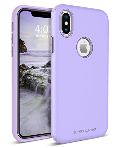 iPhone XS Case (2018), iPhone X Case, BENTOBEN Protective Slim iPhone Case Cover Shockproof Hard PC Flexible TPU Rugged Phone Cases for Girls, Women - Purple/Lavender [Support Wireless Charging]