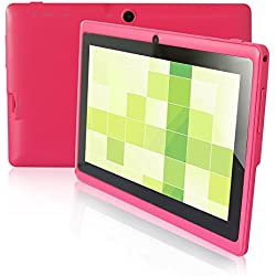 Yuntab 7 pollici HD quad-core Android 4.4 KitKat Google Tablet PC, Allwinner A33, flash di 8GB NAND doppia fotocamera 1024x600 schermo multi-touch, Google Play preinstallato, Rosa