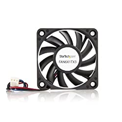 Startech.com 60x10mm Replacement Ball Bearing Computer Case Fan With Tx3 Connector Fan6x1tx3 (Black)