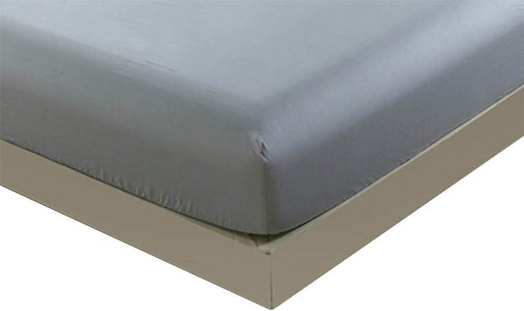 authda – Sábana bajera ajustable de algodón 100% para alta 27 cm estándar Colchón – Sábanas bajeras (8 distintos tamaños, algodón, gris, 150 x 190 x 27cm: Amazon.es: Hogar
