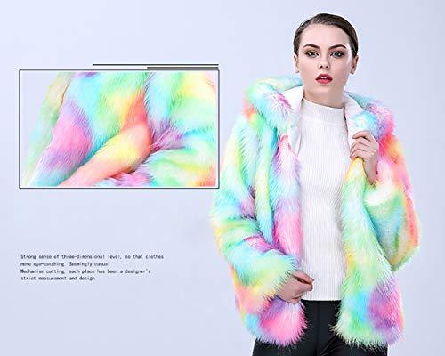Con Da Caldo Cappotto Hair Spessa Fox Invernale Sezione Cappuccio Coat xl Slim Colore Fashion Kklak Corta Donna HYA5wq