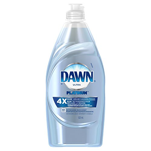 Platinum Dish (Dawn Platinum Power Clean Dishwashing Liquid Dish Soap, Refreshing Rain, 18 oz)