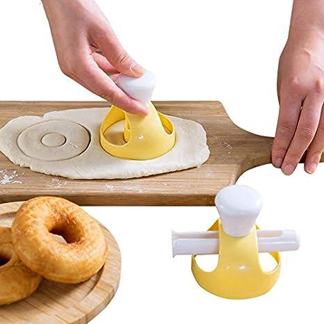 REFURBISHHOUSE 1 Unidades Donut Molde con Clip DIY Torta Torta Pan Postres Panaderia Cortador Marco Molde Herramientas para Hornear Donuts Hacedor