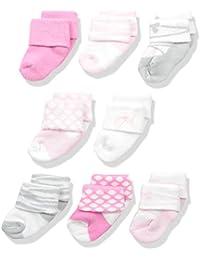 Unisex 8 Pack Newborn Socks