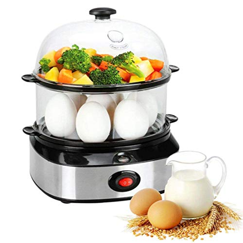 THYMY Egg Cooker Deluxe Steamer Egg Boiler with Two Layers 1