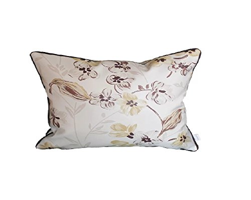 HYSENM 12x20 European Style Floral Patterns Leather Throw Pillow Sham Case Decorative Cushion Cover Home Sofa Bed Office Car Décor Easy to Clean, Brown 12''X20'' by Hysenm (Image #2)