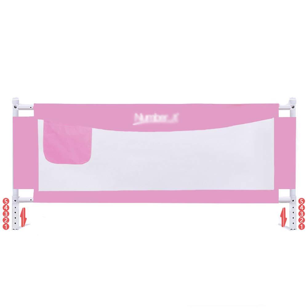 ベッドフェンス- 赤ちゃんの安全な睡眠のためのベビーピンクのガードレール、幼児のための収納袋付きの余分な長い安全な高いベッドガードレール(1辺) (サイズ さいず : 200cm) 200cm  B07JJYJNHX