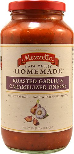 Mezzetta Napa Valley HomemadeT Pasta Sauce Roasted Garlic & Caramelized Onions -- 25 oz - ()