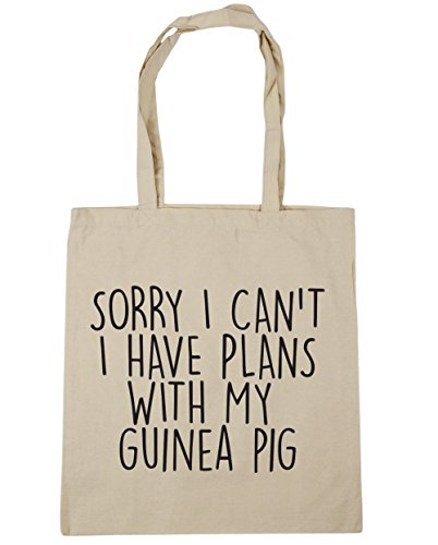 litres 10 HippoWarehouse Beach Have I I My Sorry 42cm Pig Can't Gym With Shopping Tote Bag Natural Guinea Plans x38cm SSFRq