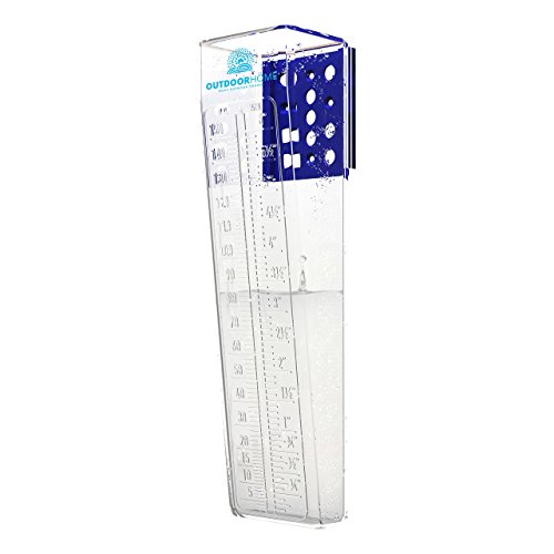 """RAIN GAUGE 6"""" DELUXE ACCURATE PROFESSIONAL EASY READ WITH DUAL SCALE BY Outdoor Home. The Perfect Mountable Outdoor Rain Gauges For Your Garden And Yard."""