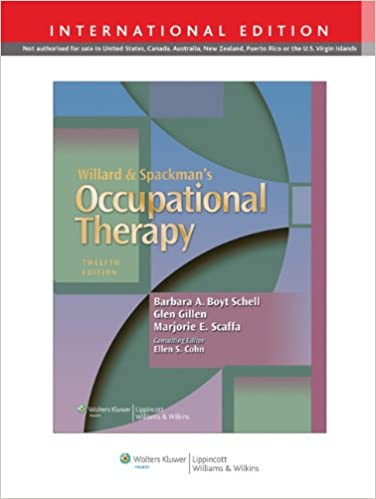 Willard And Spackmans Occupational Therapy Ebook