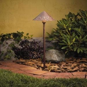 Tannery Bronze Landscape Path (Kichler Lighting 15843TZT LED Decorative Hammered Roof Low Voltage Landscape Path and Spread Light, Textured Tannery Bronze)