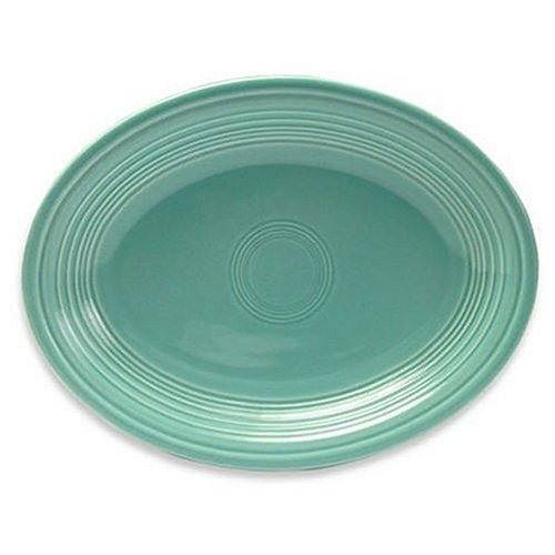 Oval Platter Color: Turquoise (Fiesta Oval Serving Platter)