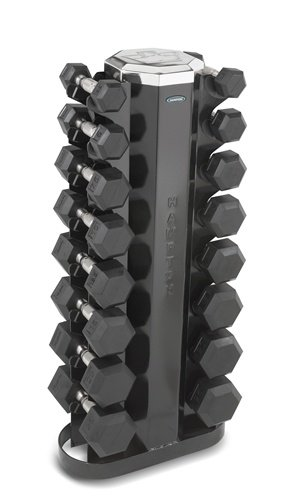 Hampton Fitness Dura-Bell 8 Pair Dumbbell Set with V2-8 Rack by Hampton Fitness