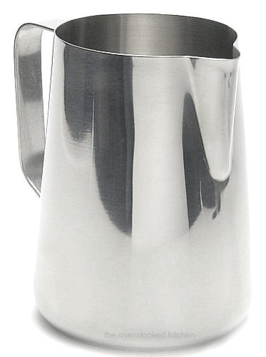 New Large 50 oz. (Ounce) Espresso Coffee Milk Frothing Pitcher, Steaming Frothing Pitcher, Stainless Steel (18/10 Gauge) - Set of 3 by Update International