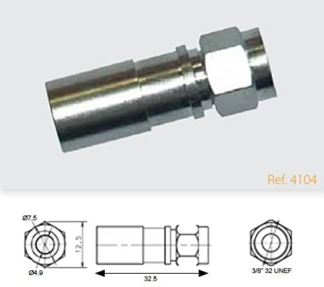 "Televes - Conector""f"" compresion (coax.t100/cxt60)"