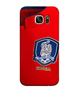 ColorKing Football South Korea 03 Red shell case cover for Samsung S7 Edge