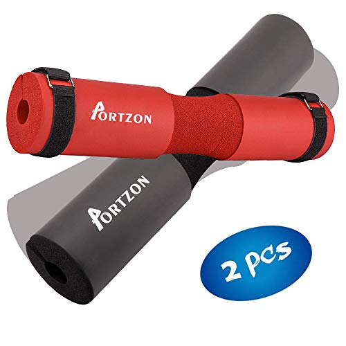 Portzon Squat Pad, Advanced Neck & Shoulder Ergonomic Protective Pad Support for Squats,Weight Lifting,Lunges & Hip Thrusts-2 Pack