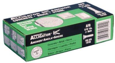 Mechanical Plastics 13102 Alligator Masonry Anchors, Flanged, 5/16-In, 100-Pk. - Quantity 10
