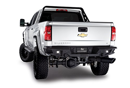 Go Rhino 28173T Textured Black Powder Coat Finish Rear Replacement Bumper (BR20)