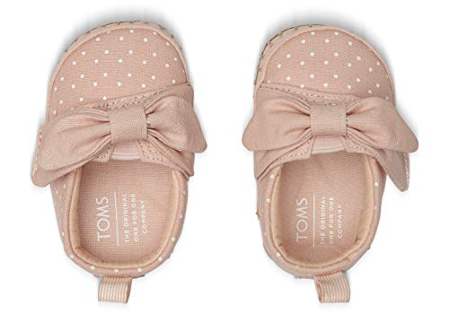 Amazon.com: TOMS Kids Baby Girls Crib Alpargata (Infant/Toddler) Pink Canvas/Polka Dots/Bow 3 M US Infant: Shoes