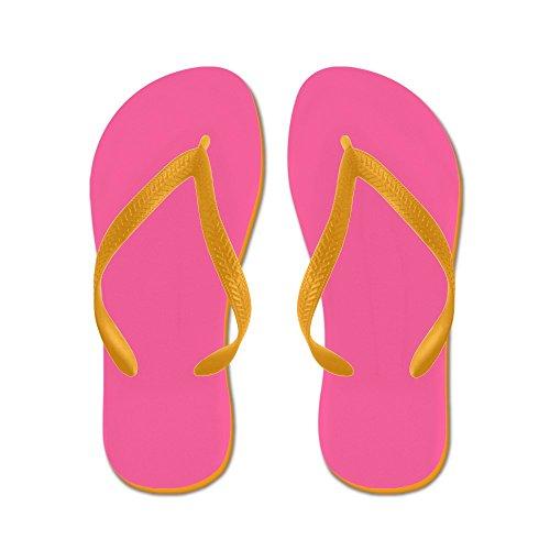 Cafepress Pink - Chanclas, Sandalias Thong Divertidas, Sandalias De Playa Naranja