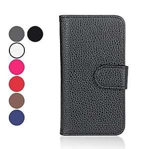 compra Caja de cuero de la PU con el soporte para el iphone 5/5s (colores surtidos) , Azul