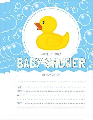 Baby Shower Invitation Duck Ducky