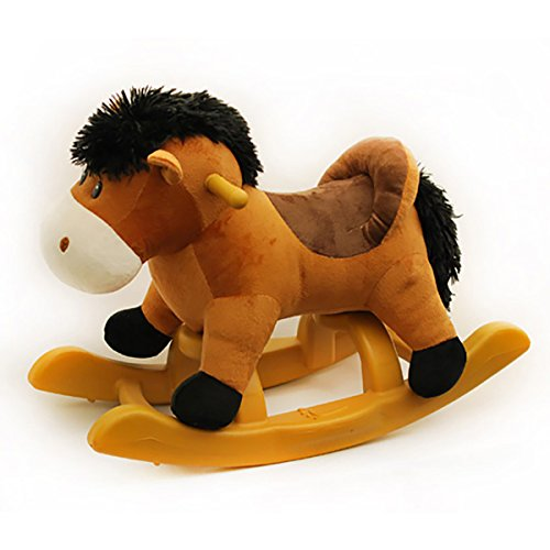 Ponyland 24-inch Brown Rocking Horse with Sound (Horse Sound With Plush Rocking)