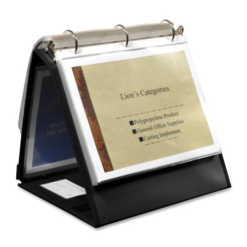 """Lion - Ring Binder Easel, 1-1/2"""" Cap, Horizontal, 11""""x8-1/2"""", Black, Sold as 1 Each, LIO 40009BK"""