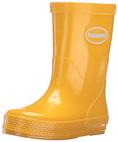 Havaianas Kids' Galochas Rain Pull-On Boot, Yellow, 23 BR(8.5 M US - Boots Havaianas