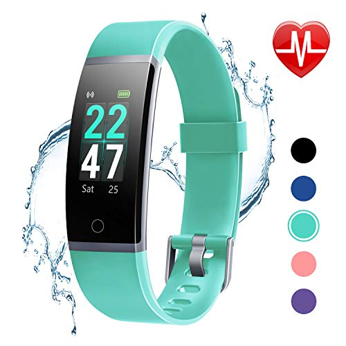 LETSCOM Fitness Tracker with Heart Rate Monitor, Color Screen Activity Tracker Watch, IP68 Waterproof Pedometer Watch Sleep Monitor Step Counter for Women Men and Kids (Sleep And Step Tracker)