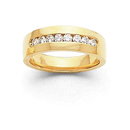 14k AA Diamond Men's Channel Band Diamond quality AA (I1 clarity, G-I color) (Aa Band Channel Diamond Mens)