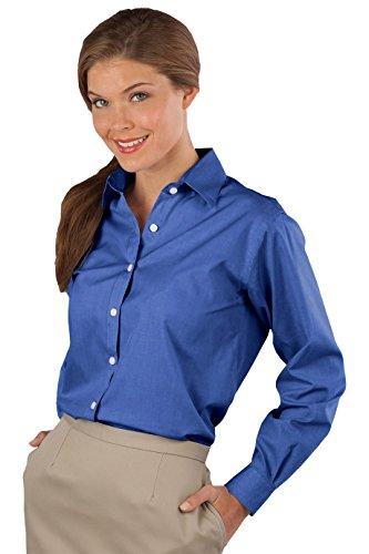 Ladies Long Sleeve Oxford Shirt (Ed Garments Edwards Garment Women's Long Sleeve Oxford Shirt Medium French Blue)