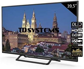 Televisores LED 39,5 Pulgadas TD Systems K40DLX10F. 3X HDMI, VGA ...