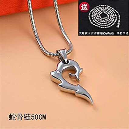 cb8efe0ee POLPEP Spike Men Necklace Pendant Steel Couple Lover Fashionable Unique  fire Domineering Woman Lettering Gift (