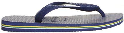 Alpine Hearing Protection Brazil Logo, Sandalias Unisex Adulto Azul marino