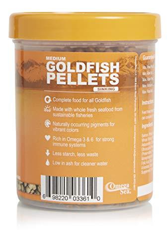 Omega One Goldfish Pellets, Sinking, 4mm Medium Pellets, 4.2 oz