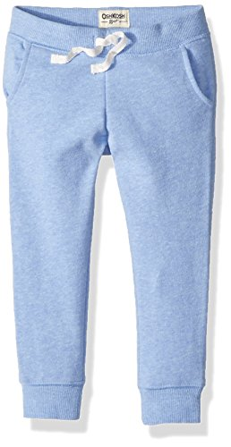 Osh Kosh Girls' Toddler Jogger Pants, Blue, 4T by OshKosh B'Gosh