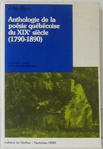 Téléchargement Anthologie de la Poesie Quebecoise du Xixe Siecle epub, pdf