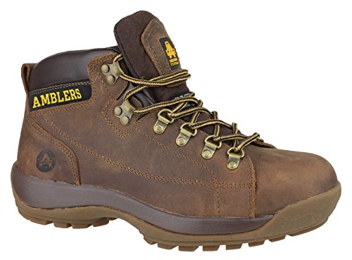 Amblers Safety Mens FS126 Leather Safety Boots Brown
