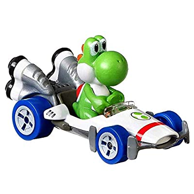 Hot Wheels Yoshi B Dasher Super Mario Kart Character Car Diecast 1:64 Scale: Toys & Games