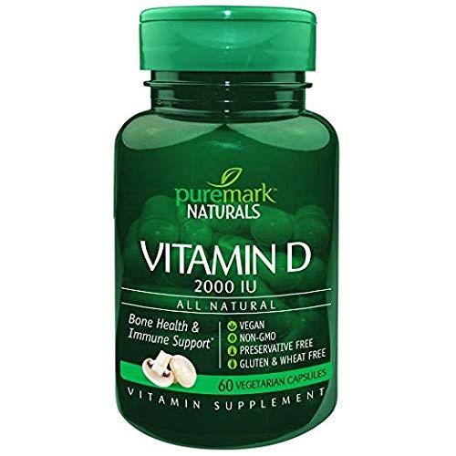 Puremark Naturals Vitamin D 2000 IU, 60 Capsules Per Bottle (Pack of 11)