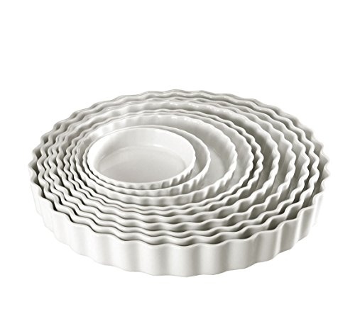 Pillivuyt Porcelain Small 5-1/4-Inch Individual Tart/Creme Brulee Dish