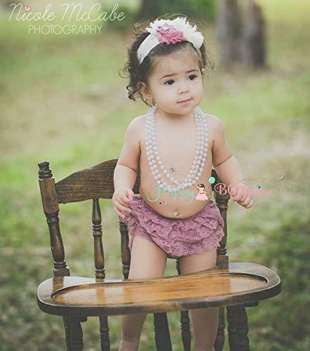 Baby Girl Champagne Rose Bloomer Set~ Baby Girl 1st Cake Smash Bloomer Set