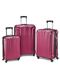 Samsonite Opto PC 3 Piece Luggage Set, Plum, Checked – Large (Model: 106581-1705)