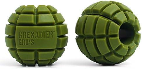 Grenadier Grips – Puños Únicos de Mancuernas/Barra para Un Enorme Aumento de Tamaño, Poder Explosivo, Fuerza de Agarre Incrementada, Crear Músculo en los ...