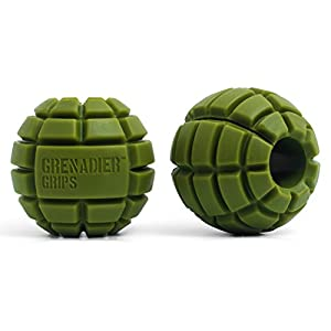 Grenadier Grips Unique Fat Bar Dumbell/Barbell Grips For Huge Size Gains, Explosive Power, Increased Grip Strength, Arm Muscle Builder, Crossfit, Improve Climbing and Grappling