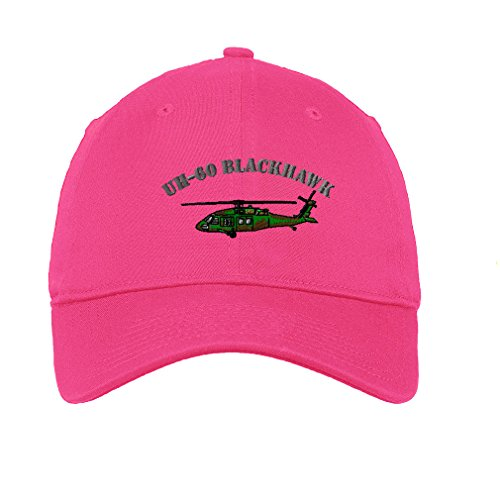 Helicopter Hats (Uh-60 Blackhawk Helicopter Name Embroidered Soft Low Profile Hat Hot Pink)
